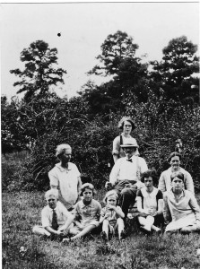 Seated on the ground, L to R,  Robert  Smith, Laura Rodgers, Sue Townsend, Sara Emma, Frances, Williard Standing behind William Griffin,  Willie Ruth Kneeling , left of William Griffin,  Ruth Smith Kneeling, right of William Griffin,    ? Children not present  Mary Jane (Hamner),   Charles Berrien,  James Walker