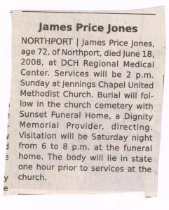 James Price Jones Obituary - 2