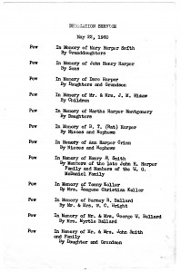 Pew Donations in the 1960s by the congregation.