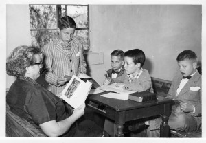 1950-60's Boys Sunday School Class. Bruce Phillips is on the far right hand side.