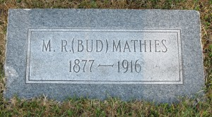M R Bud Mathies