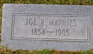 Mathies, Joe R.